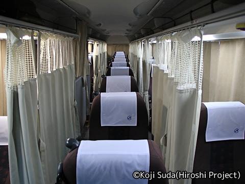 中国JRバス「出雲ドリーム博多号」 641-3955 車内
