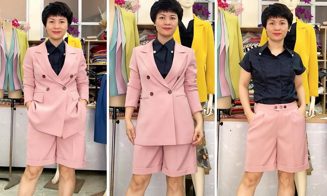 Áo vests nữ dáng suông mix đồ quần short ngắn V731 thời trang thủy
