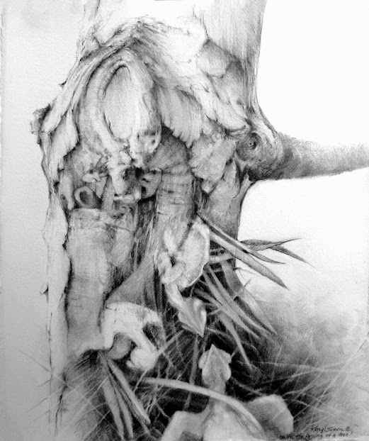 """""""Mourn the Passing of a Tree"""" by Kathy Gomric. First Place, Drawing Attention"""