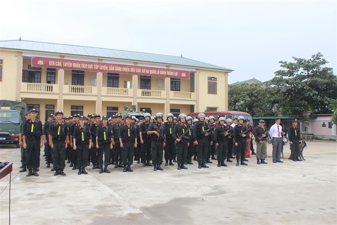 Các lực lượng tham gia buổi diễn tập