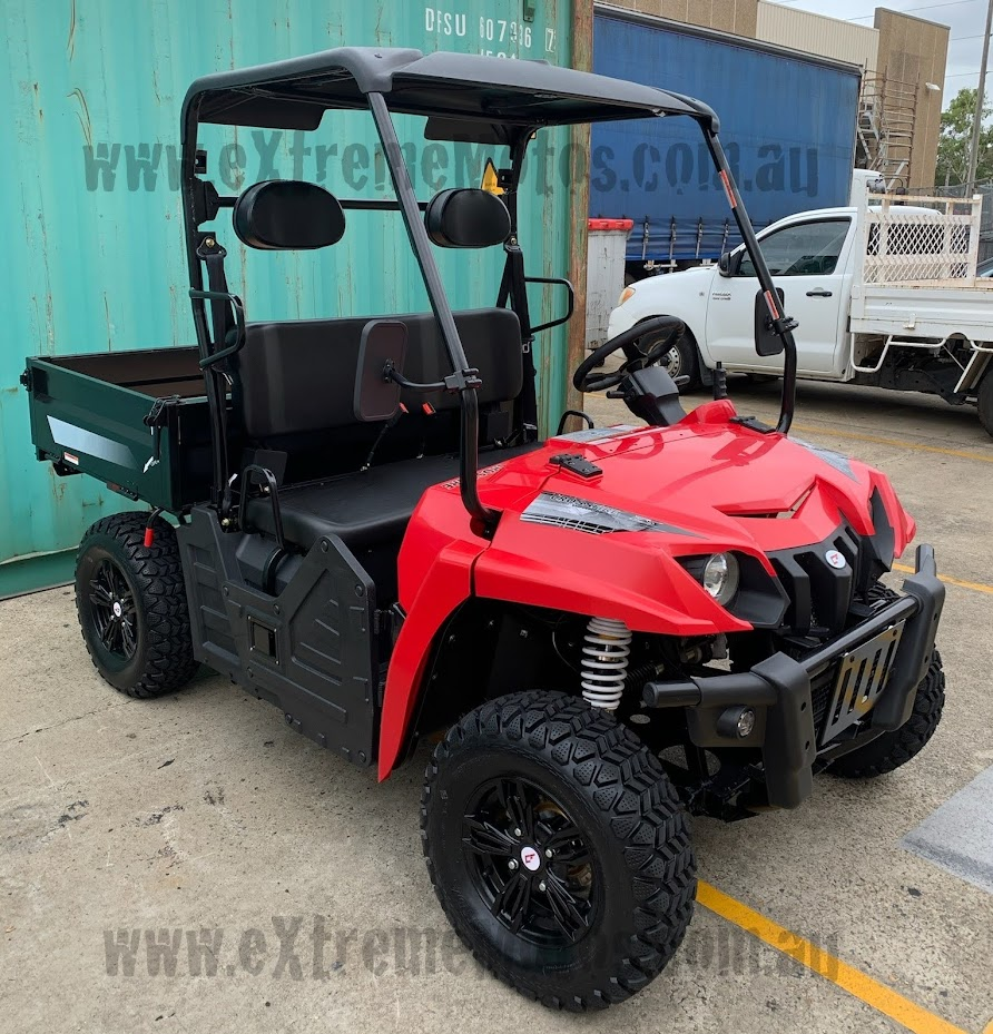 Electric E5 utv 60 Volt farm vehicle Battery Operated side by side ute ssv agricultural offroad 2wd 2x4 Red