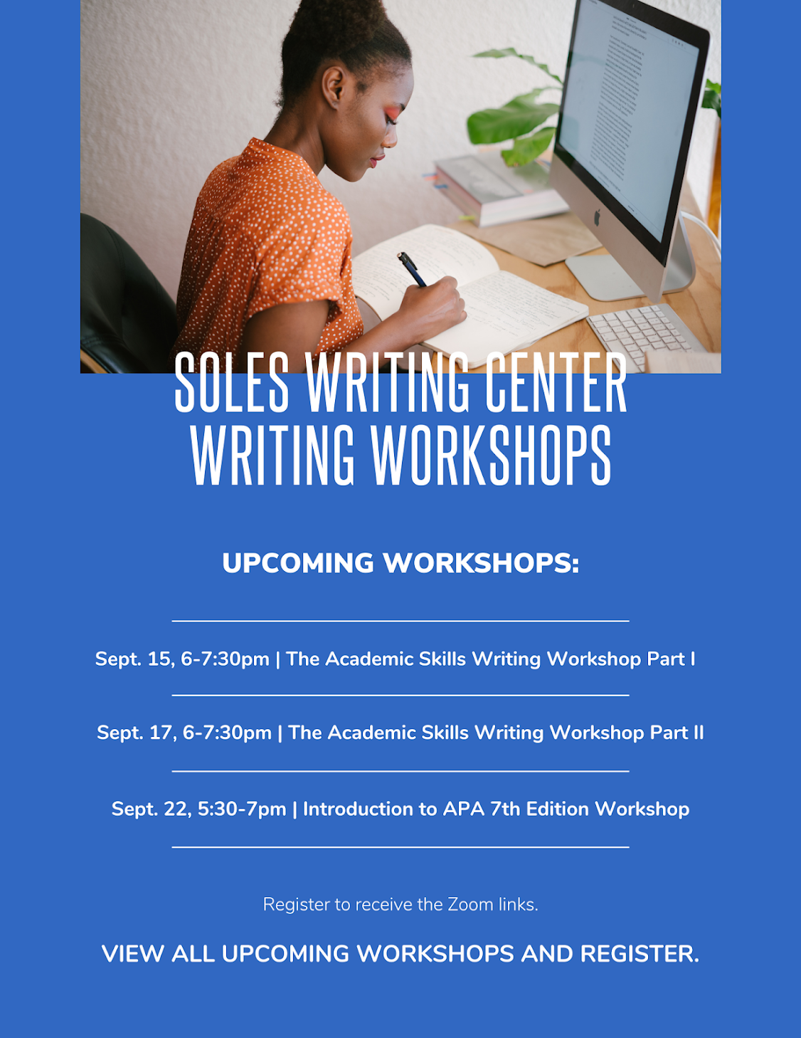 SOLES Writing Center Writing Workshops