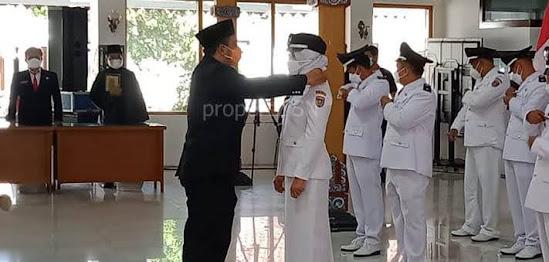 Bupati Ngawi Ony Anwar Lantik 10 Kades terpilih