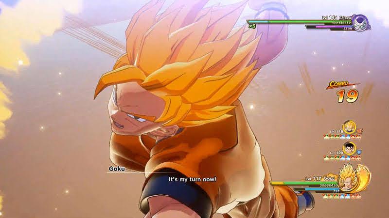 Goku tung chiêu Dragon Fist - Melee Attack mạnh nhất của anh.