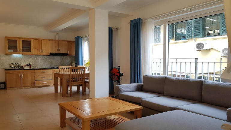 Cheap 1 – bedroom apartment with balcony in Tay Ho street, Tay Ho district for rent
