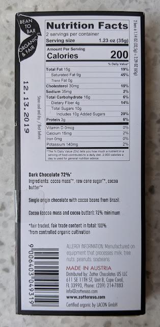 72% zotter brazil bar