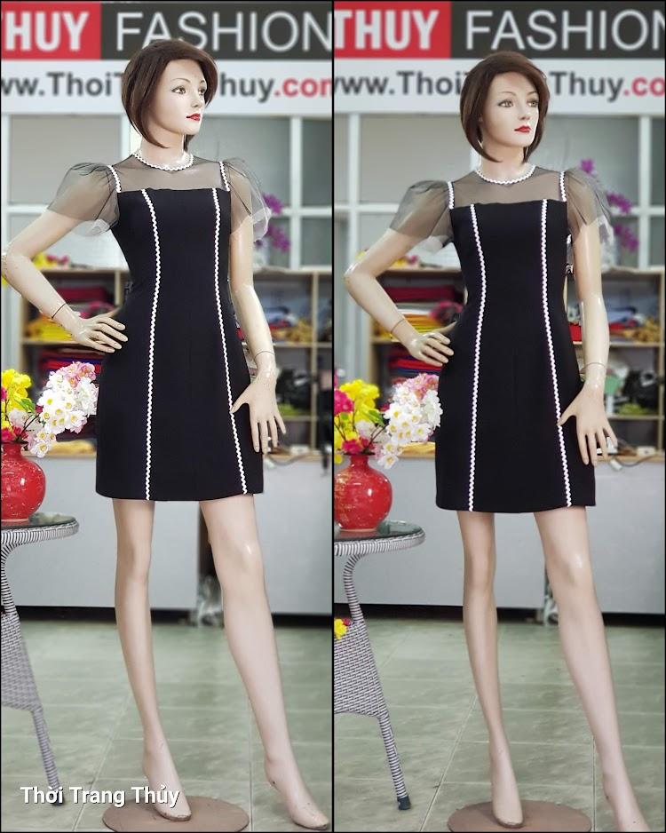 Váy xòe chữ A mặc dạo phố dự tiệc V709 thời trang thủy sài gòn