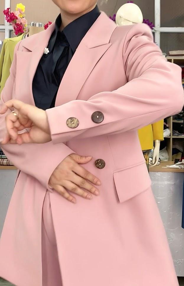Áo vests nữ dáng suông mix đồ quần short ngắn V731 thời trang thủy hải phòng 2