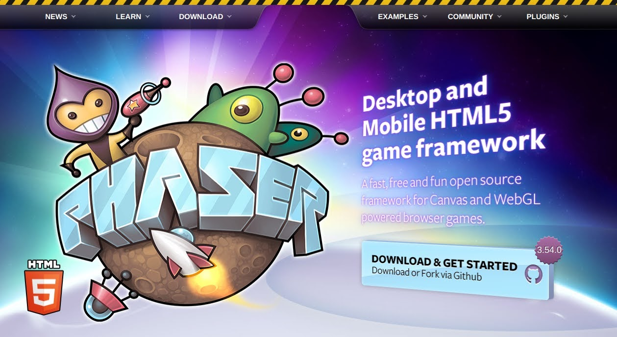 Phaser 3 Web site