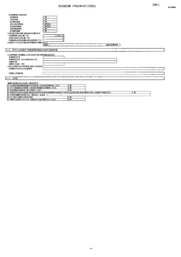 現況報告書4(令和2年4月1日現在)