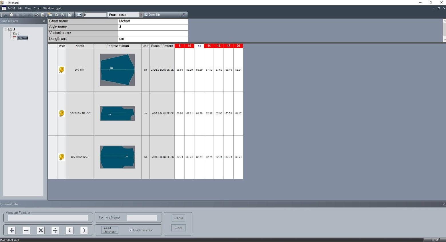 Lectra Modaris Measurement Charts Manager: Cách Thêm Hình Minh Họa Trong Bảng Đo Thông Số 11
