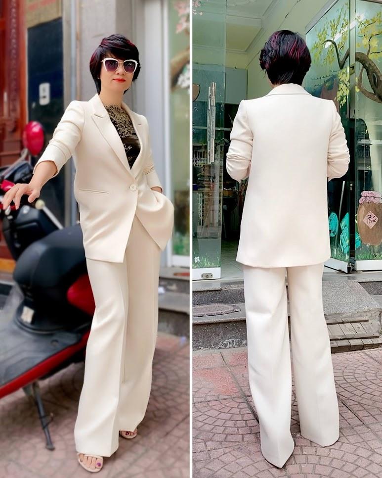 Áo vest nữ dáng suông và quần suông ống rộng V745 thời trang thủy ở thủy nguyên