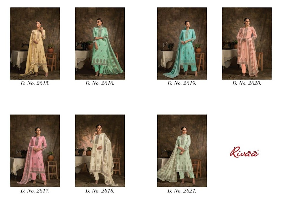 Buy Rivaa Hastkala Pant Style Ladies Suits Catalog Online Wh