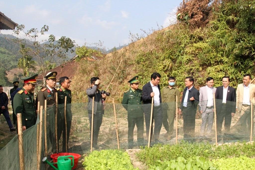 Thăm và tìm hiểu mô hình trồng rau sạch của một hộ dân tại xã Thông Thụ