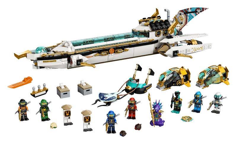 Contenido de LEGO® 71756 Barco de Asalto Hidro