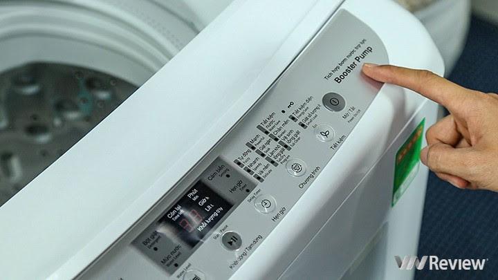 máy giặt Hitachi SF-S95XC có hệ thống bơm trợ lực