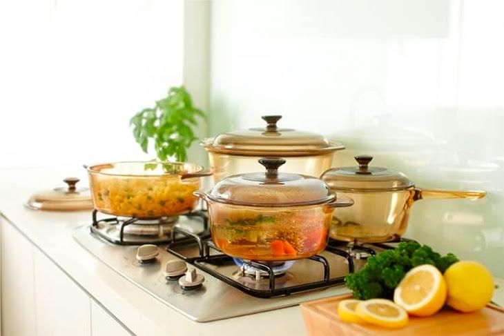 nồi thủy tinh không thể sử dụng trên bếp từ