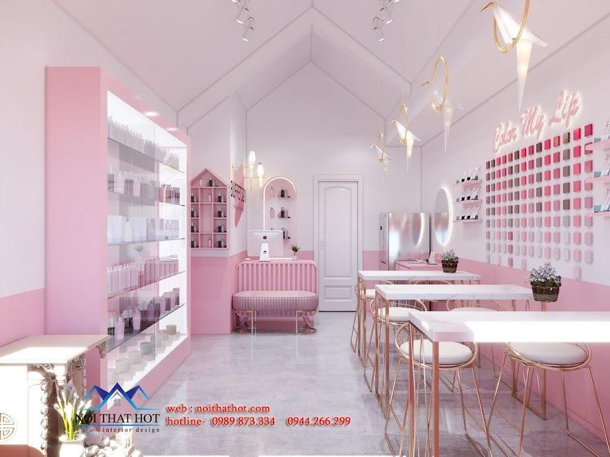 thiết kế shop mỹ phẩm
