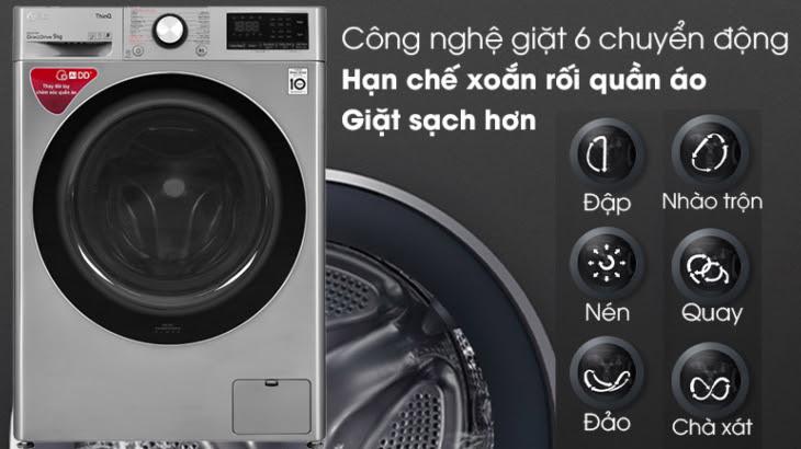 Công nghệ giặt 6 chuyển động