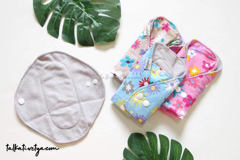 menstrual pad yang berbentuk seperti pembalut dan bisa dicuci menspad sakina nadnad