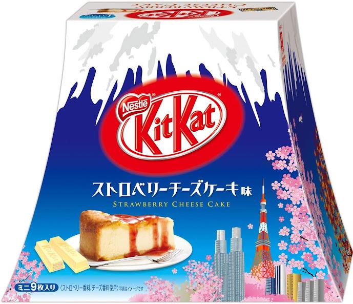 KitKat vị sốt dâu hộp núi Phú Sĩ - Cheese Cake - Nội địa Nhật Bản