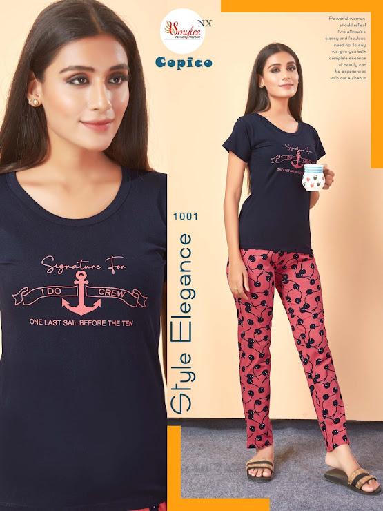 Copico Smylee Ladies Night Suits Manufacturer Wholesaler