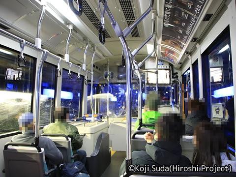 関西電力「関電トンネル電気バス」 1011 関電トンネル走行中_04 破砕帯通過