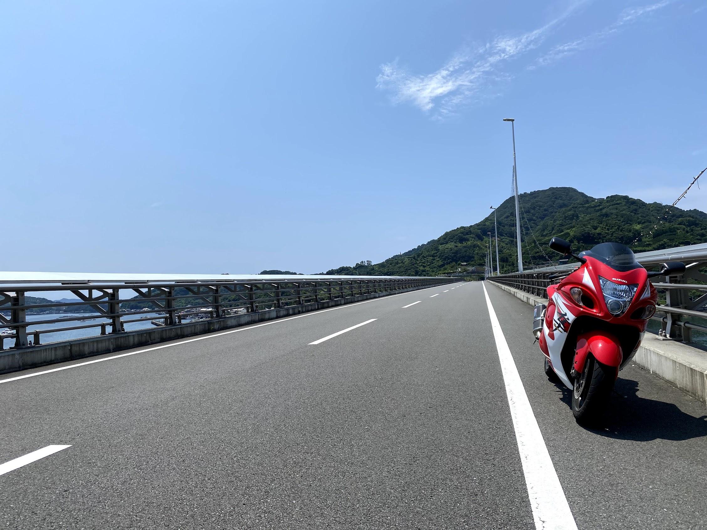 九島大橋帰路
