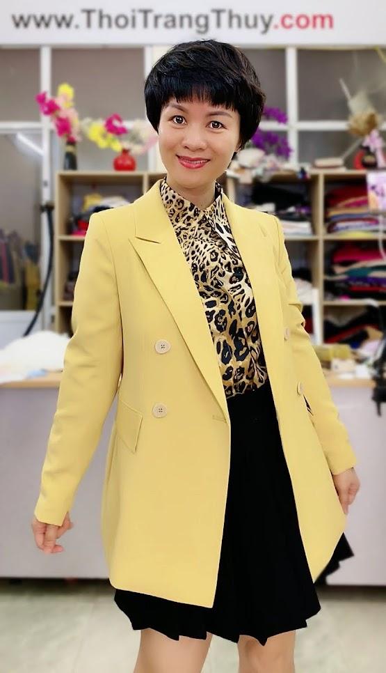 Áo vest nữ mix đồ áo sơ mi và chân váy xòe V730 thời trang thủy sài gòn