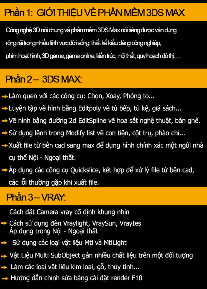 Trung tâm đào tạo 3Ds max uy tín tại Long Biên