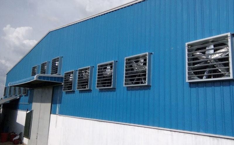 Phương pháp làm mát nhà xưởng bằng quạt thông gió