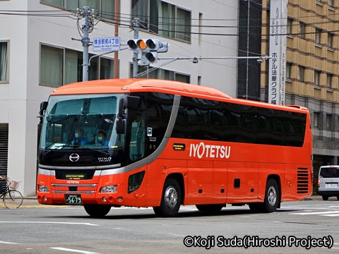 伊予鉄南予バス「道後エクスプレスふくおか号」 5679