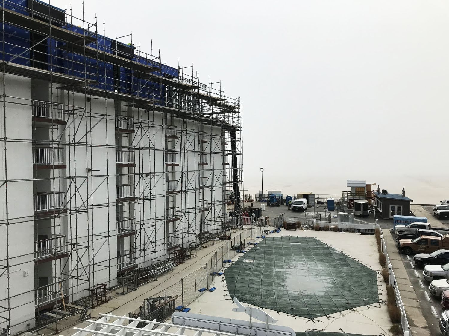 Superior scaffold, scaffolding, scaffold, Philadelphia, PA, new jersey, wildwood, hotel, resort, ICONA, de, beach, shoring, system, work deck