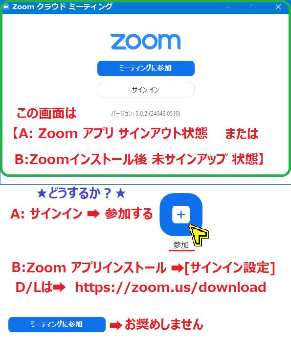 Zoom サイン アウト