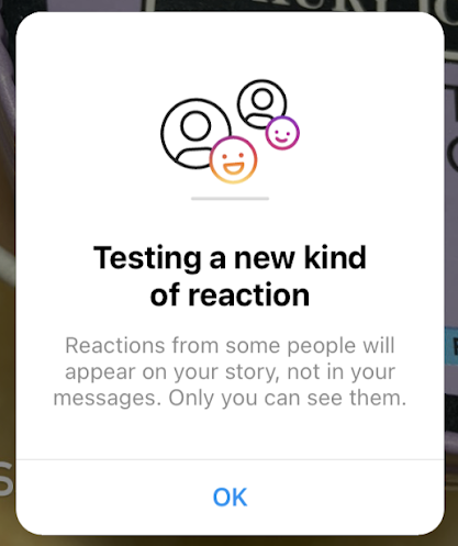 Instagram is testing a new kind of reactions