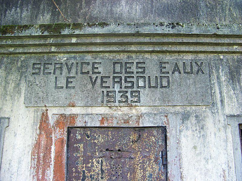 Le reservoir d'eau potable de Le Versoud