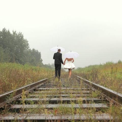 Vestuvės lietuje