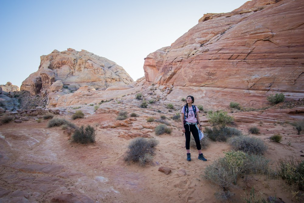 Jessica on White Domes trail