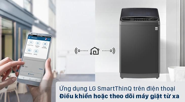 Điều khiển máy giặt cửa trên LG TH2111SSAB từ xa mọi lúc, mọi nơi với công nghệ SmartThinQ