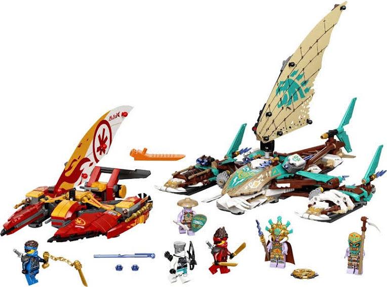 Contenido de Lego® 71748 Batalla Naval en Catamarán