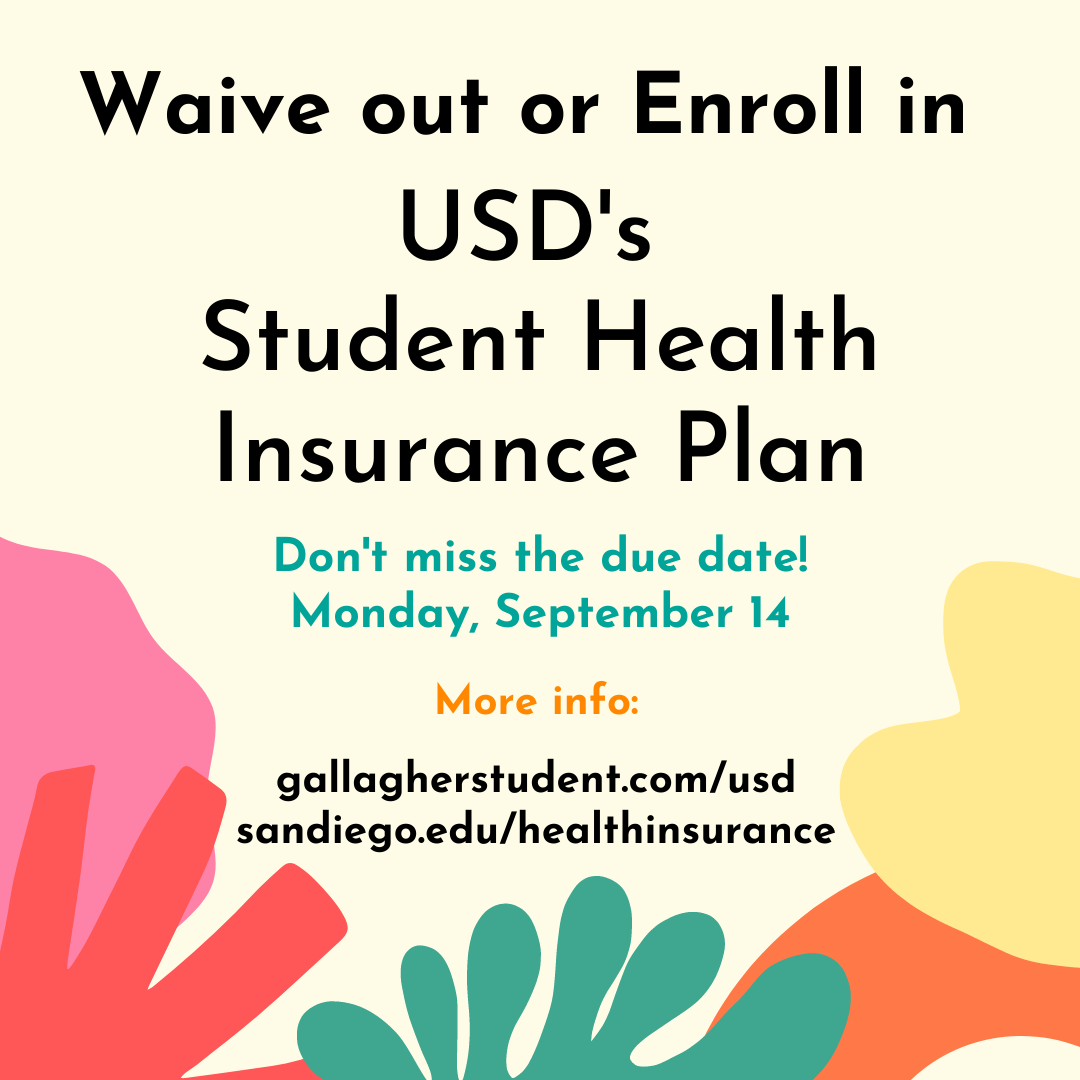 Student Health Insurance Requirement Flyer, due September 14