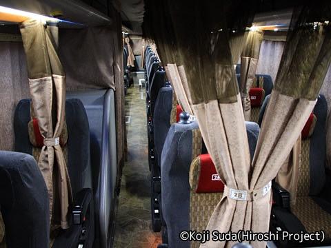 南海バス「サザンクロス」長岡線 ・518 車内
