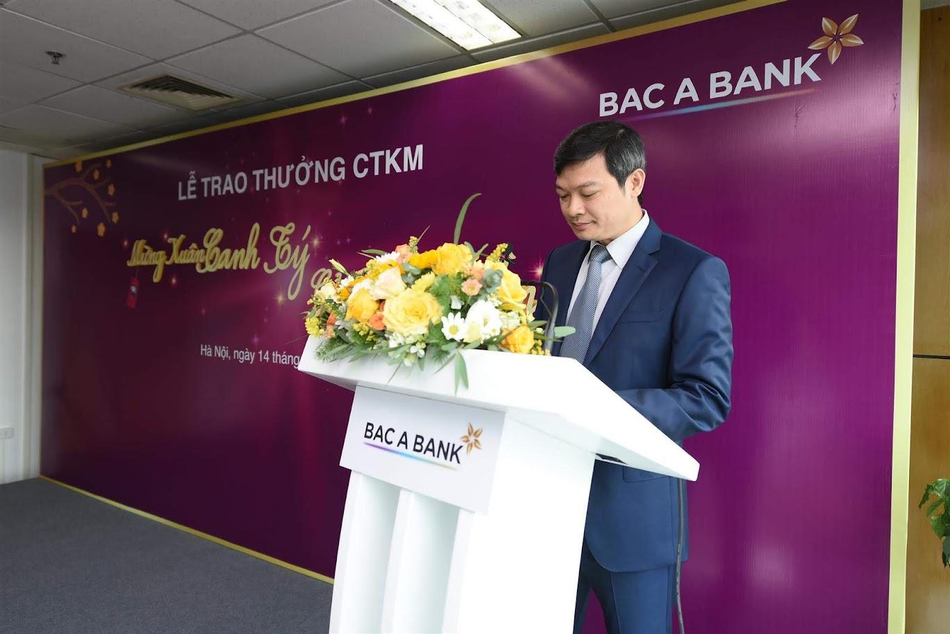 Ông Nguyễn Việt Hanh - Phó Tổng Giám đốc Ngân hàng TMCP Bắc Á phát biểu chào mừng