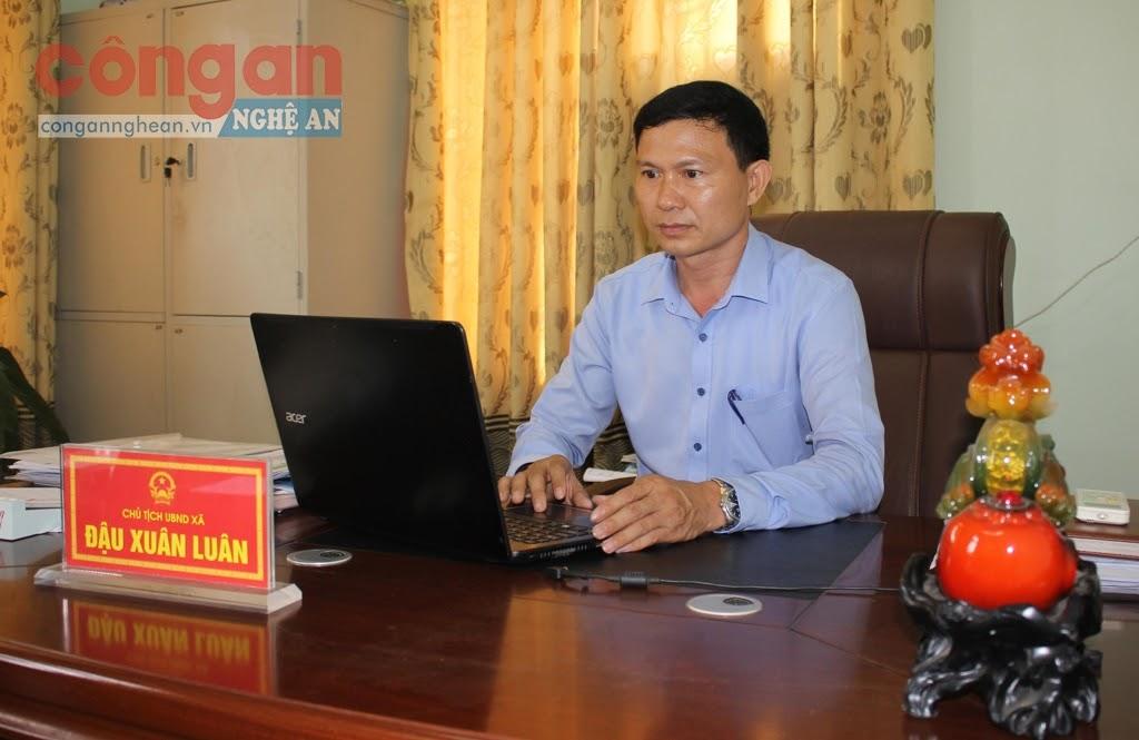 Đồng chí Đậu Xuân Luân,  Chủ tịch UBND xã Nghi Yên