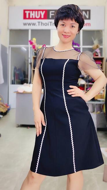 Làm eo thon và che bụng với váy xòe chữ A thời trang thủy đà nẵng