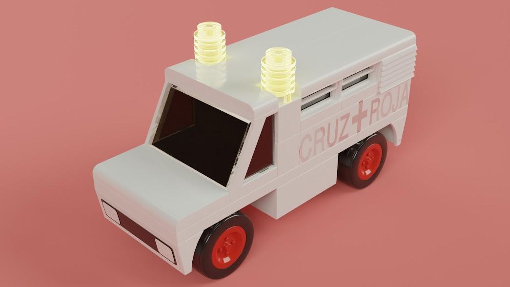 Ambulancia con las sirenas encendidas