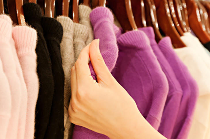 đồ len cũng là loại quần áo không nên giặt bằng máy giặt