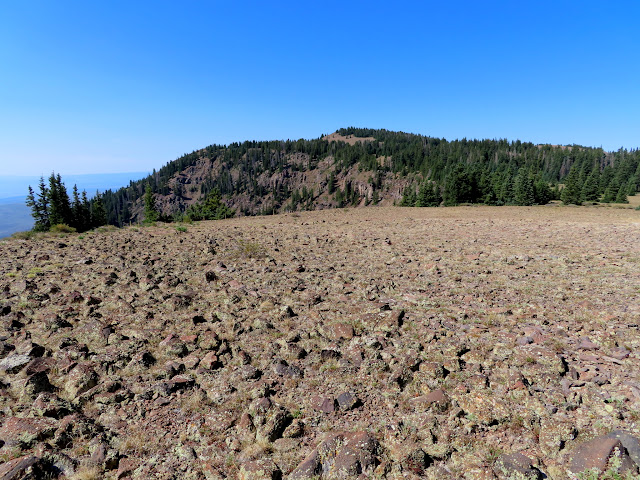 First view of the Circleville Mountain summit