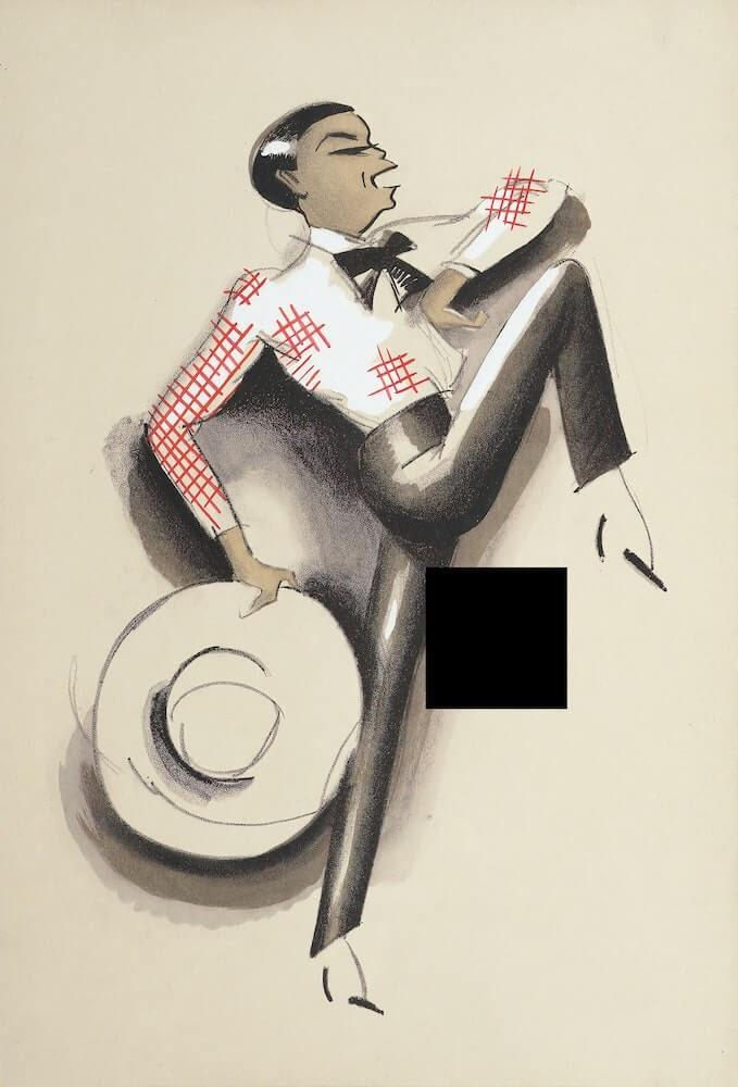 a caricature of a dancer.jpg