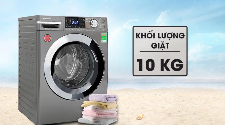 máy giặt FX1 lồng ngang của Panasonic có khối lượng giặt là 10kg